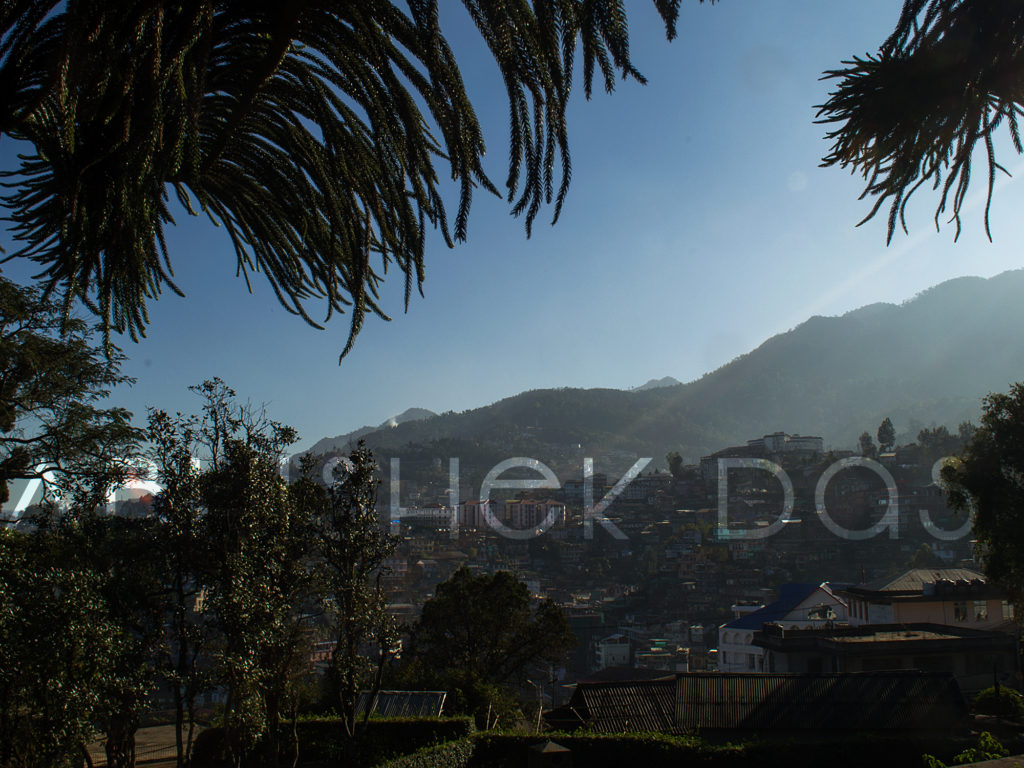 Kohima city view from World War II cemetery